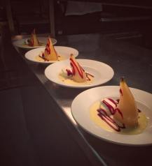Poached pear desserts