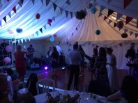 Wedding reception with marquee, live band and private bar